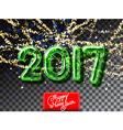 Happy New 2017 Year garland invitation vector image vector image