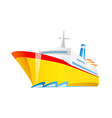 icon ship vector image