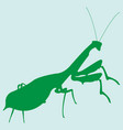 image of a silhouette of a mantis vector image vector image