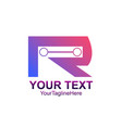 initial letter r logo template colorful design vector image