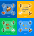 law justice composition concept 3d isometric view vector image vector image
