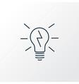 lightbulb icon line symbol premium quality vector image vector image