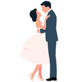 loving couple hugging man and woman in full vector image vector image