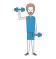 man lifting weights character vector image vector image