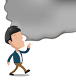 Man Smoke Empty Text Cartoon vector image