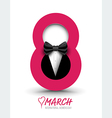 March 8 with tuxedo vector image