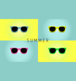 minimalistic summer background with sunglass flat vector image vector image