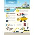 Mining Industry Infodraphics vector image