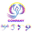 modern phoenix logo vector image vector image