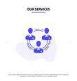 our services team business communication vector image
