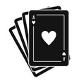 play fortune cards icon simple style vector image