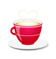 Red coffee cup vector image
