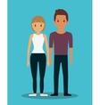 romantic heterosexual couple full body icon image vector image vector image