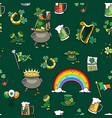 saint patricks day elements pattern vector image vector image