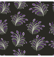 Seamless floral pattern on black vector image vector image