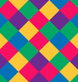 seamless pattern of colored squares in vintage vector image vector image