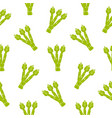 seamless pattern with asparagus in flat style vector image