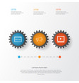 seo icons set collection of video player media vector image vector image