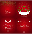 set christmas lights glowing inscription stylish vector image vector image