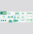 set grey and green turquoise blue elements vector image