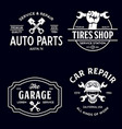 set vintage monochrome car repair service vector image