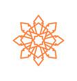 sharp crystal octagonal mandala geometric symbol vector image