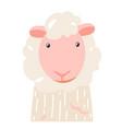 sheep cute animal baby face vector image vector image