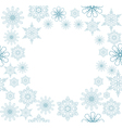 snowflake frame vector image vector image