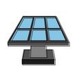 solar panel con image vector image vector image