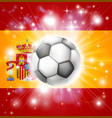 spain soccer flag vector image