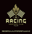 Square sanserif font in racing style vector image vector image