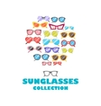 Sunglasses icons background vector image vector image