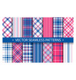 tartan set pattern seamless plaid geometric vector image vector image