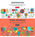 teamwork and inspiration banners vector image vector image