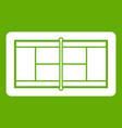 tennis court icon green vector image vector image