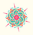 traditional indian symbol geometric circle hand vector image