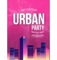 Urban Dance Party Poster Background Template vector image vector image