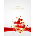 valentines day abstract background with red paper vector image vector image
