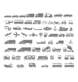 Vehicle and Transportation flat icon set vector image