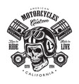 vintage motorcycle logo template vector image vector image
