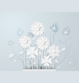white flower and bouquet vector image