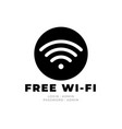 wifi icon in trendy flat style isolated on grey vector image vector image