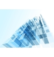 Modern blue glass wall of office building vector image