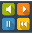 Modern Flat Music Icon Set for Web and Mobile vector image