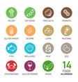 set of food allergens vector image