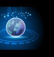 3d world global internet network connection big