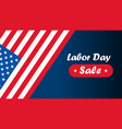 american labor day labor day card design sale vector image vector image