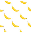 banana seamless cartoon pattern background vector image vector image