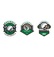 baseball best team logo design set tournament vector image vector image