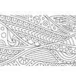 beautiful coloring book page with abstract pattern vector image vector image
